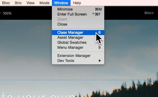 class-manager-menu