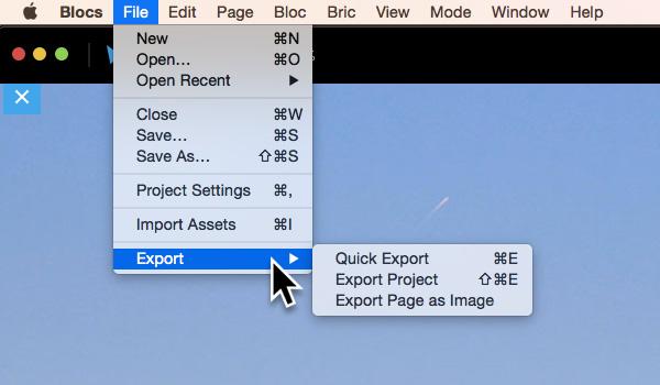 export-options